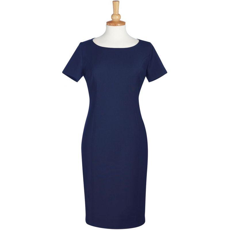 484aa64e7c73a ... doublure extensible  Robe de travail trés élégante manche courte  Cintrée bleu roi ...