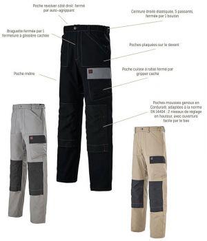Pantalon de Travail Rigger Adolphe Lafont, Look moderne et innovant