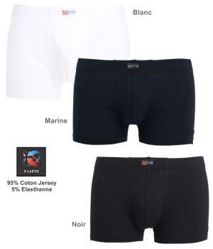 Boxer, Tissu doux et Confortable, Coton Jersey et Elasthanne