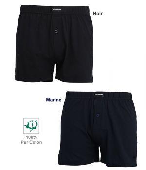 Boxer Short Coton Jersey, 100% Coton Jersey doux et souple