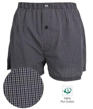 Boxer Short tissé pour Homme, 100% Coton Popeline, Douceur, Confort