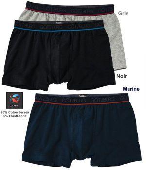 Boxer, Doux et Confortable, Coton Jersey et Elasthanne