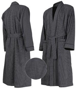 Peignoir de bain, Design mode à petits carreaux, Coton Popeline