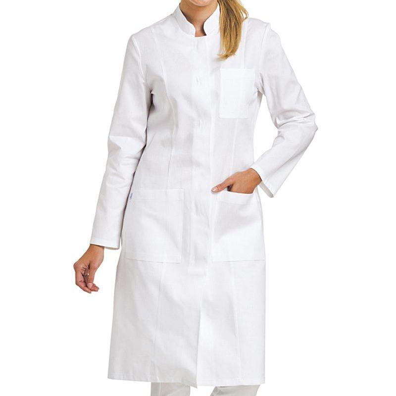 blouse blanche femme manches longues col officier boutonnage sous patte. Black Bedroom Furniture Sets. Home Design Ideas