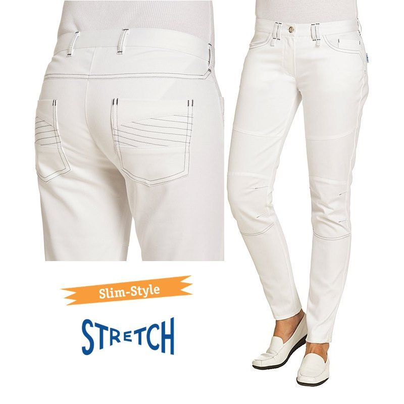 pantalon jeans femme blanc slim style 5 poches surpiq res stretch. Black Bedroom Furniture Sets. Home Design Ideas