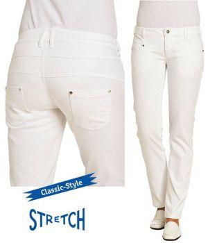 Pantalon Jeans Blanc Femme, Style Classique, Coupe Tendance, Stretch