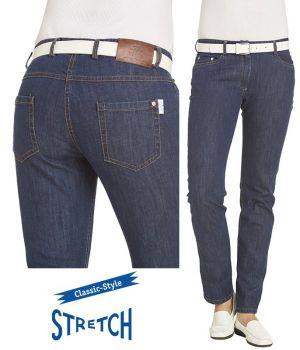 Jeans pour Femme, Bleu denim, Coupe Tendance, 5 poches, Stretch