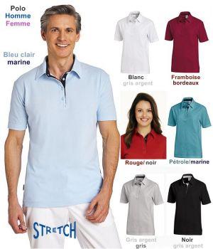 Polo manches courtes, Homme et Femme, Stretch Très Confortable