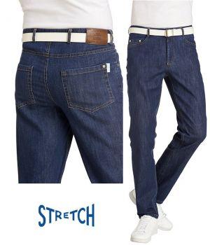Jeans pour Homme, Bleu denim, 5 poches, Coupe Tendance, Stretch