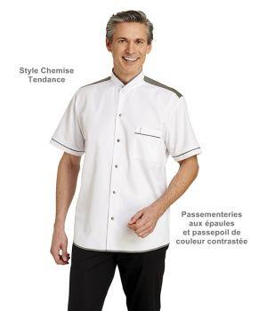 Veste de Cuisine, Manches Longues, Style Chemise, Tendance, Passementeries