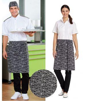 Tablier de Cuisine, Restaurant, Serveur, Serveuse, Tissu aspect imprimé