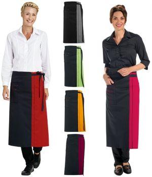 Tablier bistro, serveur, serveuse, poches avec surpiqûres, 80 x 100 cm