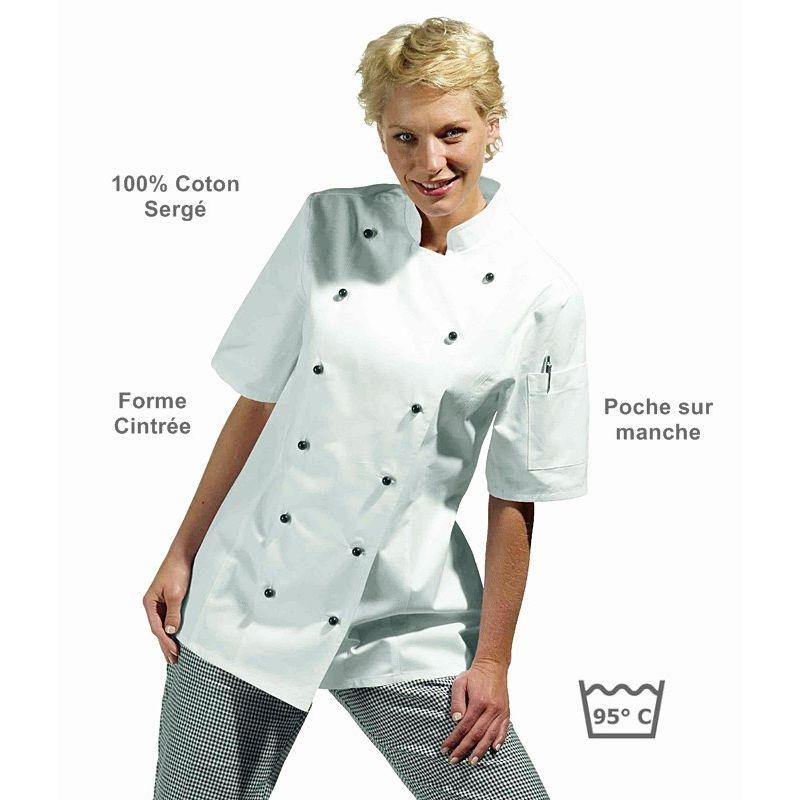 2604a2ece7a9 Veste de Cuisine Femme
