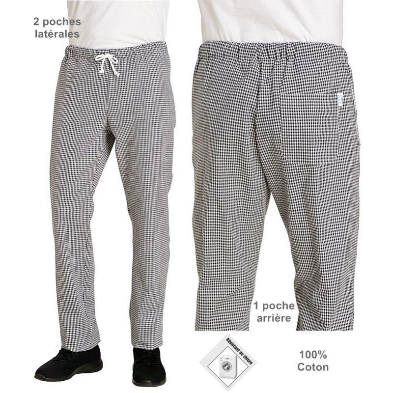 pantalon de cuisine p pita homme ou femme taille. Black Bedroom Furniture Sets. Home Design Ideas
