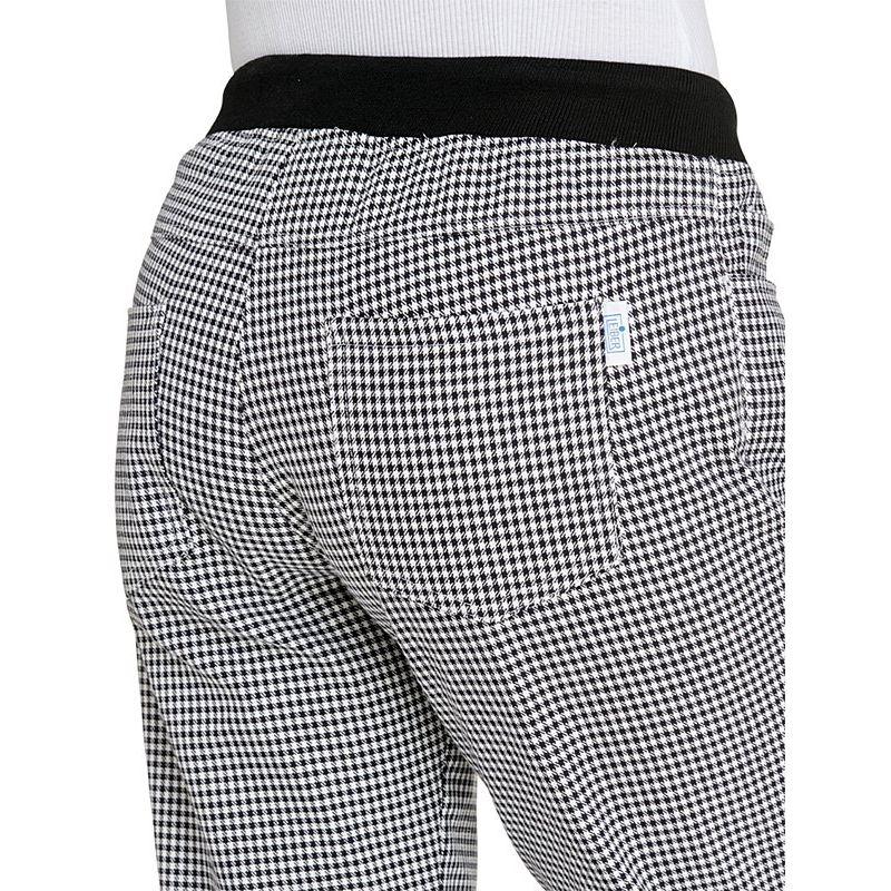 blanco mallaPepita de de negro Pantalones cocina y para mujercinturón WIEDH2Y9
