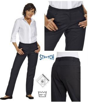Pantalon femme noir, très confortable, ceinture élastiquée, Stretch extensible