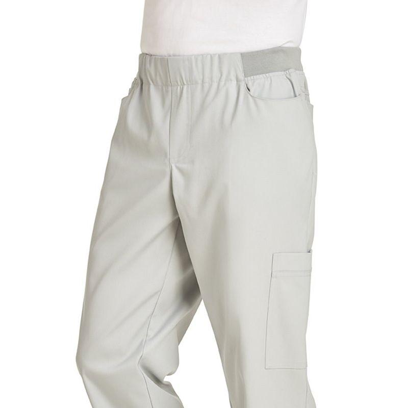 Pantalon homme taille lastique en maille avec cordon de for Pantalon de cuisine homme
