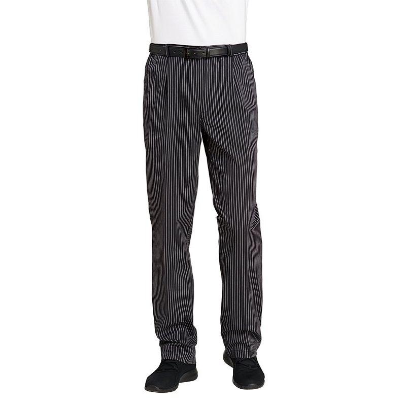 Pantalon de cuisine ou de service fines rayures tiss es for Pantalon de cuisine homme