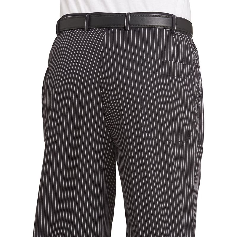 pantalon de cuisine ou de service fines rayures tiss es noir et blanc. Black Bedroom Furniture Sets. Home Design Ideas