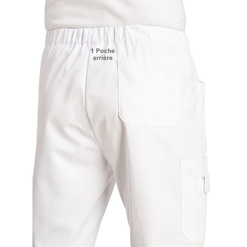 pantalon unisexe taille lastiqu e poches lat rales. Black Bedroom Furniture Sets. Home Design Ideas