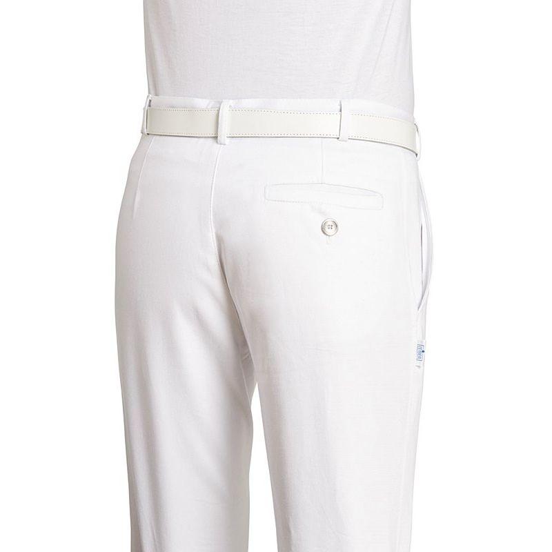 pantalon blanc satiné homme