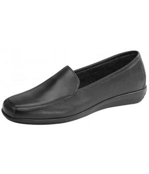 Chaussures confort, dessus cuir de veau, Noir