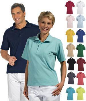 Polo homme et femme, piqué, manche courte, polyester et coton peigné