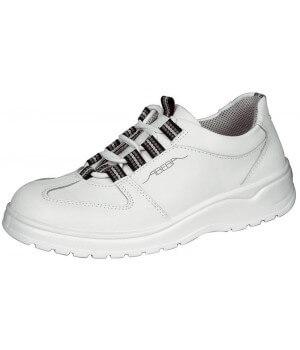 Chaussures de travail, Dessus cuir, Semelle antidérapante, Blanc