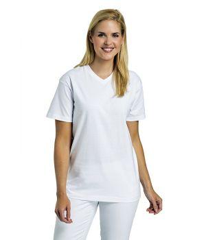 Tee-shirt pour hommes et femmes, Col V, 100% coton