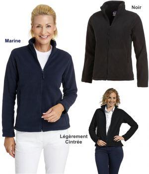 Veste polaire femme, Manches montées, 2 poches zippées, Légèrement cintrée