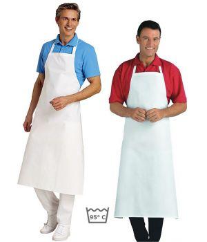 Tablier cuisine à bavette restaurant, bistro, blanc, coton,
