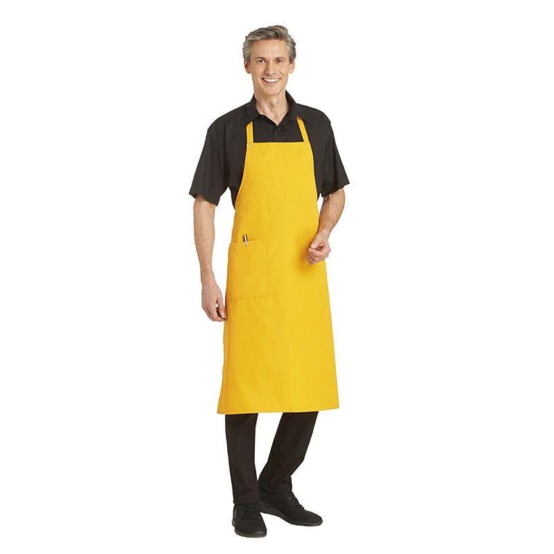 tablier à bavette 1 poche fermeture réglable par pression - Tablier Cuisine Professionnel