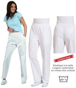Pantalon femme, confortable, ceinture élastiquée