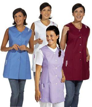 Blouse femme mi-longue, bordures de couleur aux épaules et aux  poches