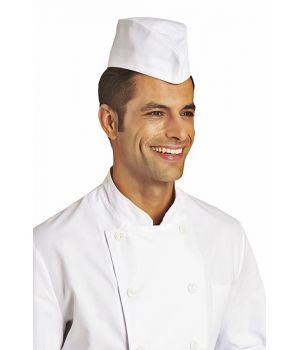 Calot cuisine, blanc, 100% coton sergé