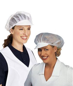 Coiffe de cuisine avec filet et visière
