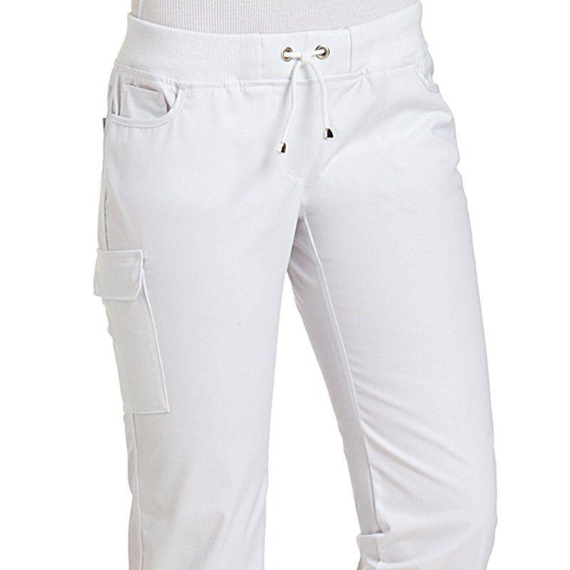Élastiquée Pantalon En Blanc Jean Côtelée FemmeStretchTaille Maille IE29DHW