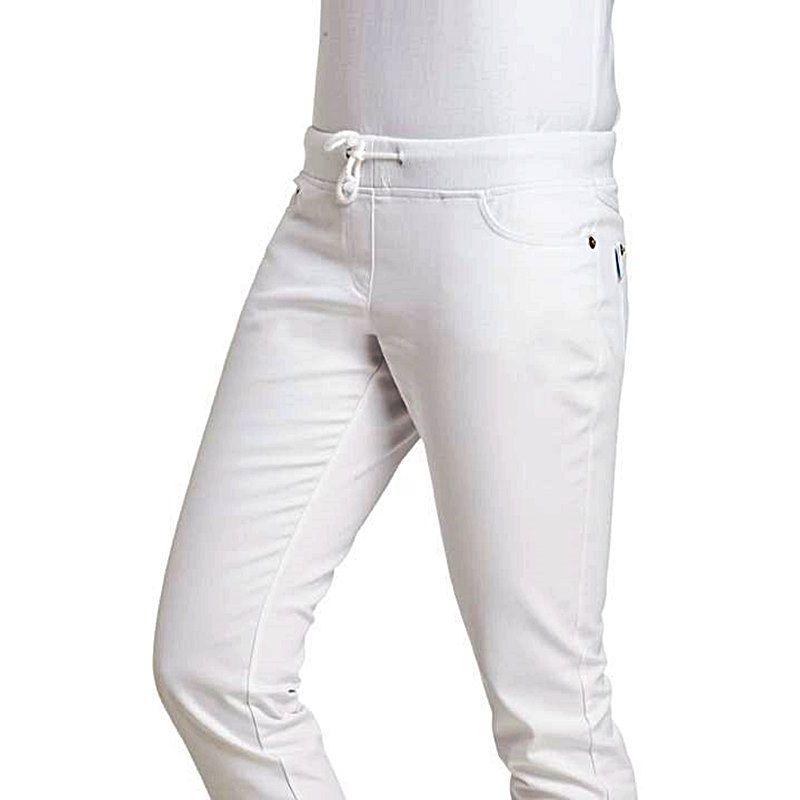 Pantalon Femme 5 Slim Coupe Poches Blanc Style Étroite Jambe ukXiZOP