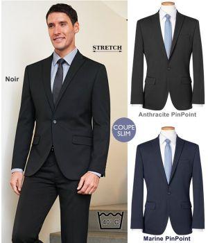 Veste Homme, Coupe Slim, 1 bouton, Tissus résistant, Stretch