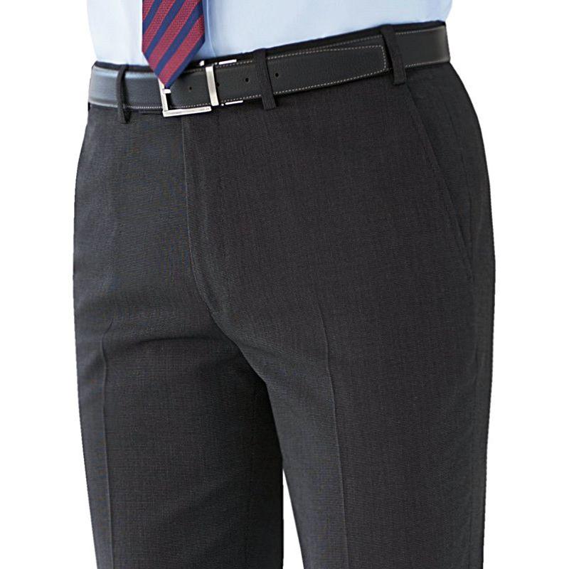 Pantalon Homme, Coupe Ajustée, Sans pinces,