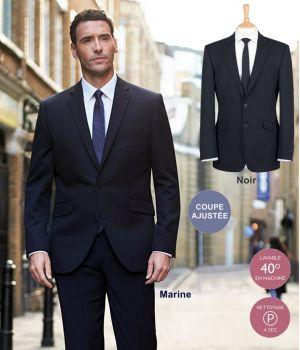 Veste Homme, Coupe ajustée, Simple boutonnage, 100% polyester