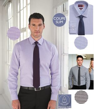 Chemise Homme, Coupe Slim, Repassage facile, Manches Longues