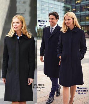 Manteau Femme, Laine et Cachemire, Coupe droite, Doublure en satin