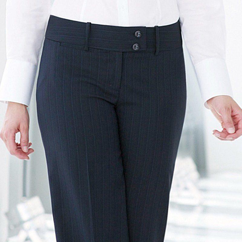 pantalon femme taille basse coupe droite vas e en bas poche cl. Black Bedroom Furniture Sets. Home Design Ideas