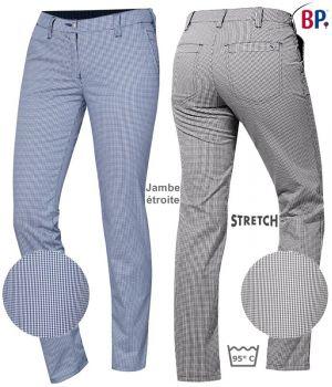 Pantalon de Cuisine Chino Femme, Confort stretch liberté de mouvement