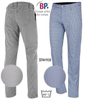 Pantalon de Cuisine Chino Homme, Confort stretch liberté de mouvement