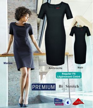 Robe Premium, col rectangle, infroissable, anti-boulochage