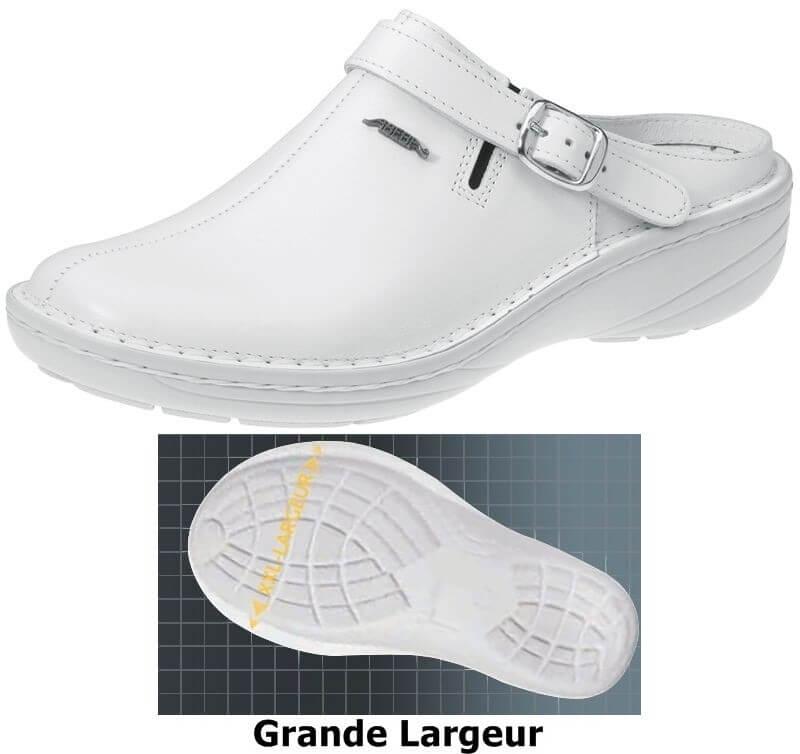 Chaussures femme, bride arrière réglable pivotante grande