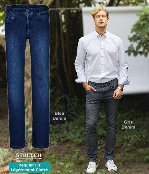 Jean Homme, 5 poches, Regular Fit, Casual Chic et décontracté, Stretch