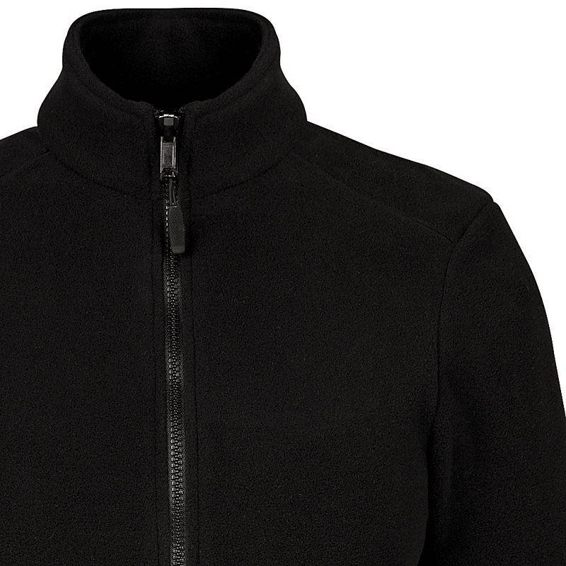 846ad342978a Veste Polaire Femme, Noire, Col droit, 2 poches zippées